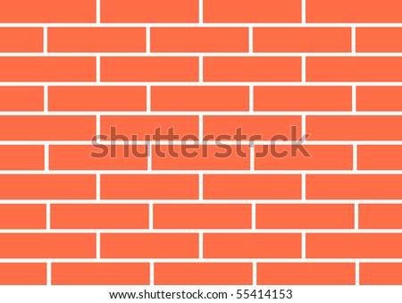 Brick-wall - stock vector