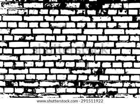 Brick wall detail texture.  - stock vector