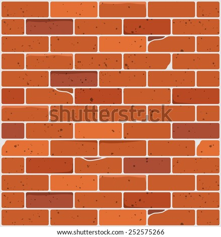 Brick wall. Seamless texture - stock vector