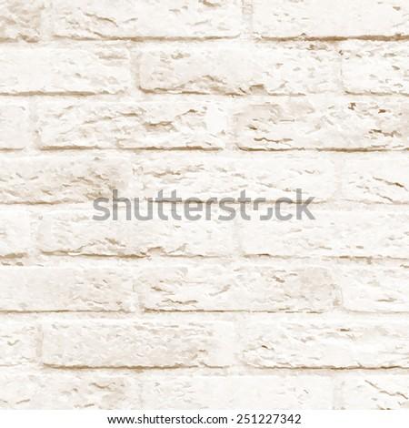 Brick Wall, Vector Illustration - stock vector