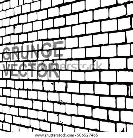 Brick Wall With Diminishing Perspective Grunge Vector Graffiti Abstract Stylish Background