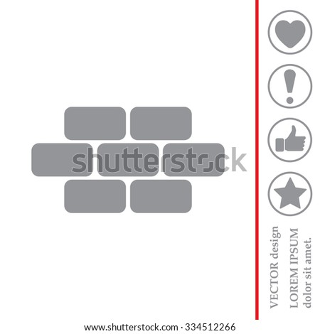 bricks (brickwork, masonry), icon - stock vector