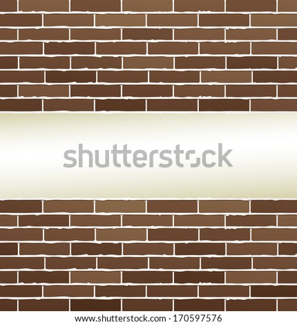 bricks texture with white background and place for text
