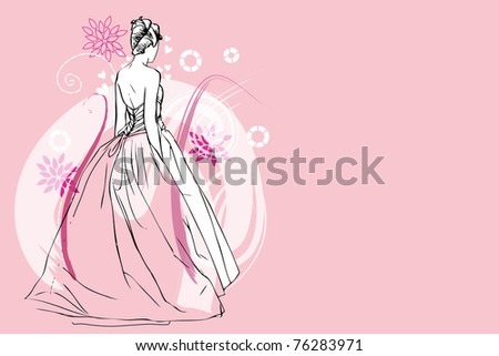 bride - stock vector