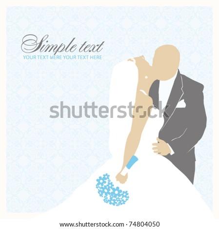 Bride and Groom. Wedding illustration.Vector - stock vector
