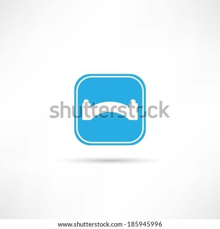 bridge icon - stock vector