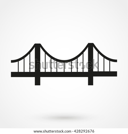 bridge Icon isolated on background. Modern flat pictogram, business, marketing, internet concept. Trendy Simple vector symbol for web site design or button to mobile app. Logo illustration - stock vector
