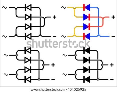 Bridge Rectifier Symbol Stock Vector Royalty Free 404025925