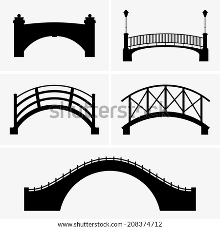 Bridges - stock vector