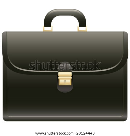 briefcase - stock vector