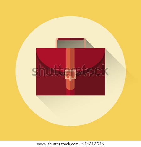 Briefcase Business Icon Flat Vector Illustration - stock vector