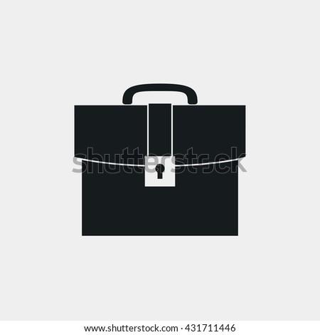 Briefcase Icon. Briefcase Icon Vector. Briefcase Icon Image. Briefcase Icon Fiat.  Briefcase Icon Graphic. Briefcase Icon Art. Briefcase Icon EPS. Briefcase Icon JPEG.  Briefcase Icon AI  - stock vector