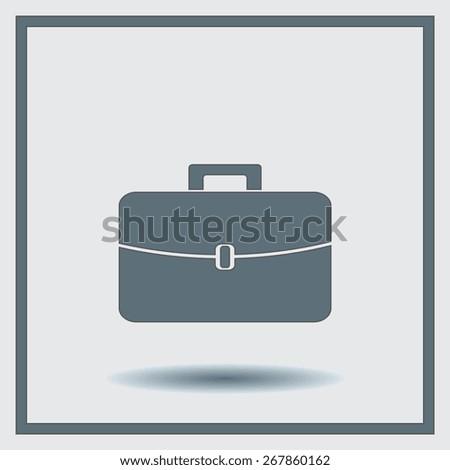 Briefcase icon, vector illustration. Flat design style. - stock vector