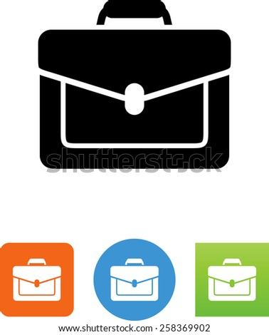 Briefcase symbol. Vector icons for video, mobile apps, Web sites and print projects. - stock vector