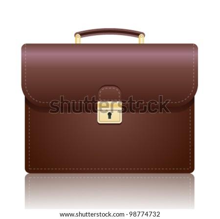 Briefcase. Vector illustration. - stock vector