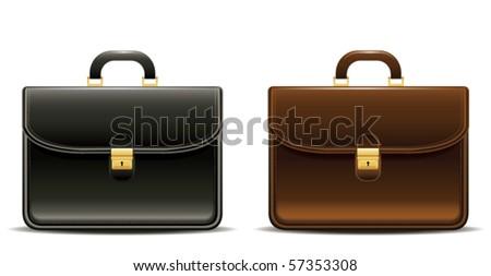 briefcases - stock vector