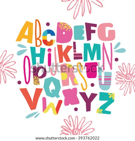 Bright ABC for kids. - stock vector