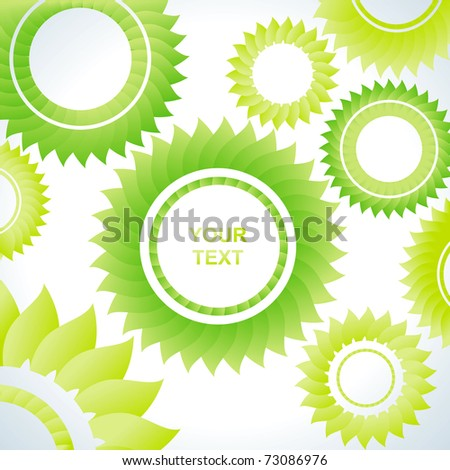 Bright abstract background of several green of gears