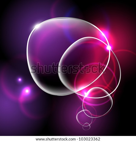 Bright Abstract Background With Glass Disks, Vector Illustration - stock vector