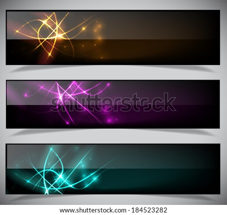 Bright abstract banners collection. Vector illustration eps 10 - stock vector
