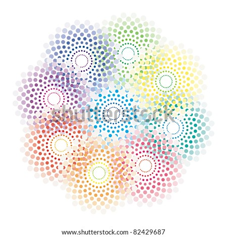 bright abstract pattern in rainbow colors