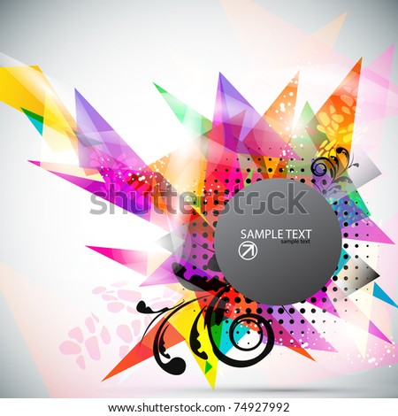 Bright abstract triangles background  with space for text