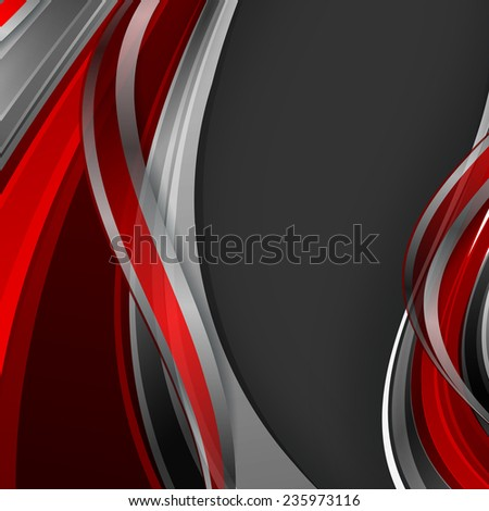 bright abstract vector background with wavy lines. Eps10 - stock vector