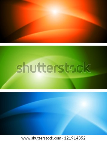 Bright abstract wavy banners. Vector design eps 10