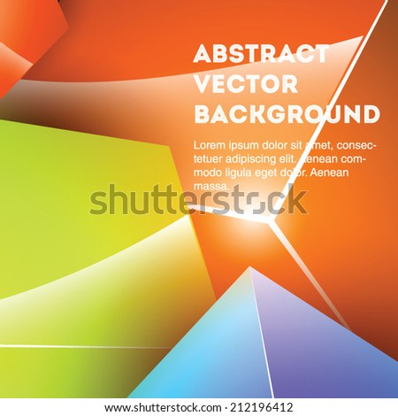 Bright and attractive 3d abstract cubic vector background. Editable eps 10 illustration. - stock vector