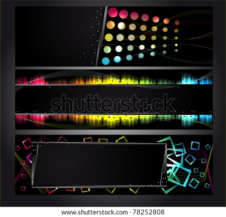 Bright background. Dark design template for business cards - stock vector