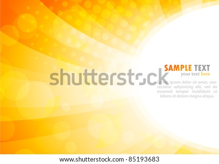 Bright background in orange color - stock vector