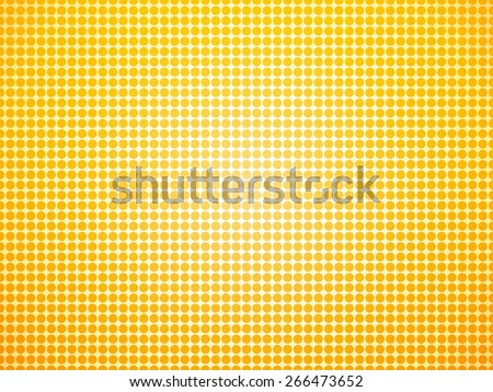 bright background of the yellow dots - stock vector