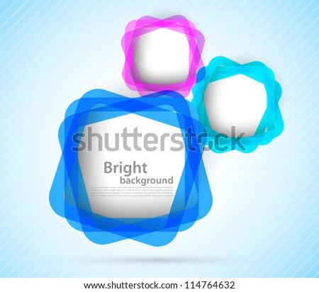 Bright background with colorful squares. Abstract illustration - stock vector