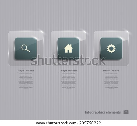 Bright banners set transparent square with gray background and center in clean, contrasting colors, for businesses, enterprises, web sites and info graphics / simple and modern style. - stock vector