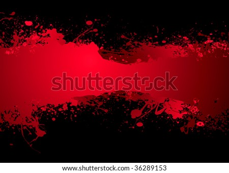 Bright blood red ink banner with room to add your own text - stock vector