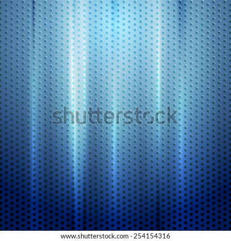 Bright blue abstract perforated texture. Vector background - stock vector
