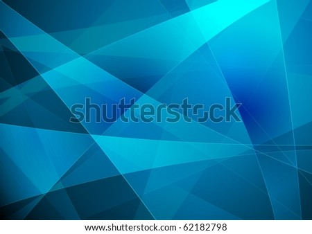 Bright blue abstraction - vector eps 10 - stock vector