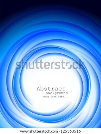 Bright blue background. Abstract illustration - stock vector