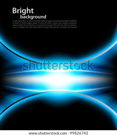 Bright blue background with lights and srats - stock vector