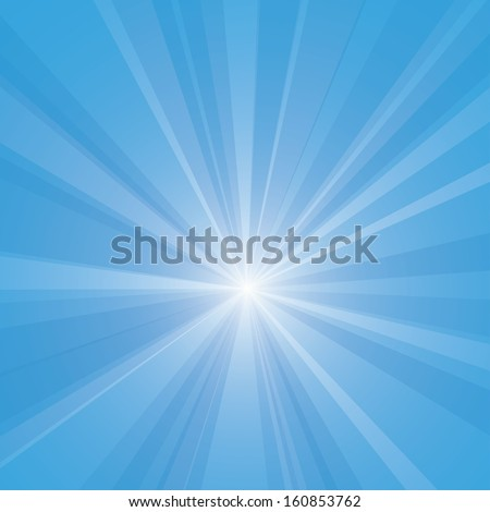 Bright blue burst vector illustration. - stock vector