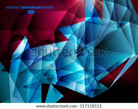 Bright blue polygon abstract background.Vector EPS 10 illustration. - stock vector