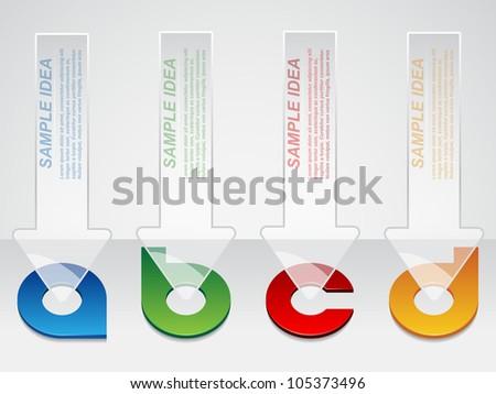 bright brochure template - stock vector