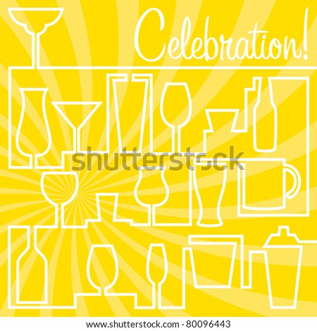 Bright Celebration Card in vector format. - stock vector