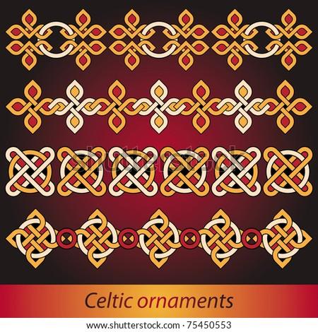 bright celtic ornaments vector set - stock vector