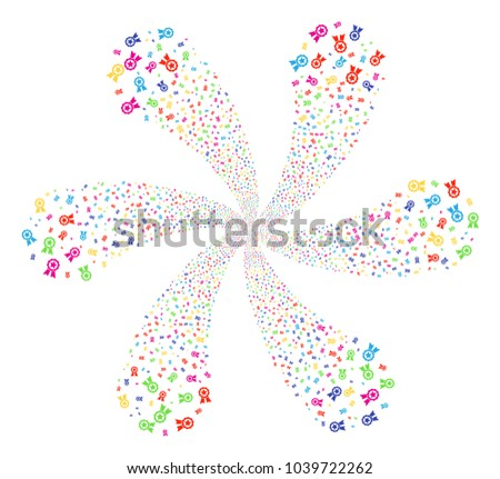 Bright Certificate Seal Centrifugal Flower Shape Stock Vector ...