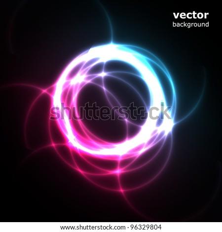 Bright Circles - stock vector