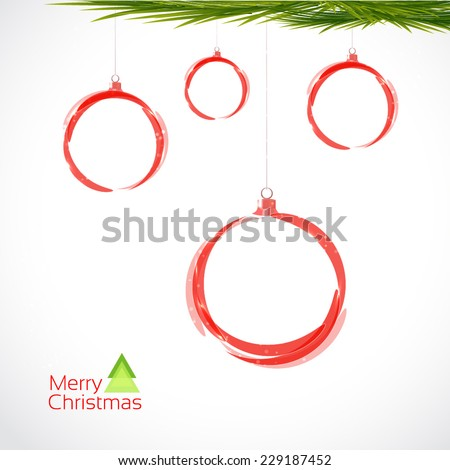 Bright circles balls xmas. Sale - stock vector