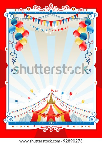 Bright circus frame with space for text - stock vector
