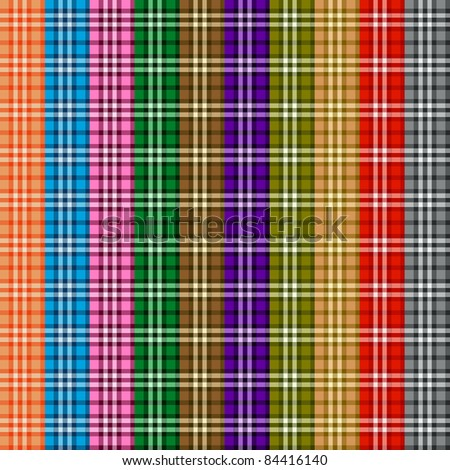 Bright colored scottish seamless pattern. Vector illustration. - stock vector