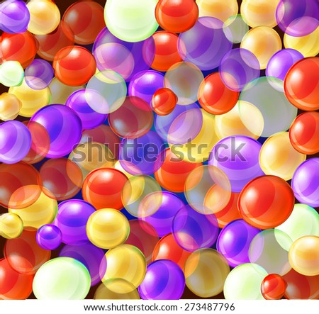 bright colorful background with a number of spheres